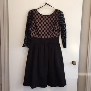 Eliza J Mesh Bodice Fit and Flare
